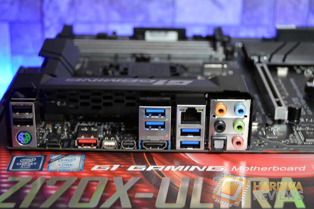 Gigabyte Z170X ULTRA GAMING I/O Panel