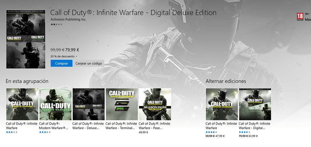 call of duty Infinite Warfare windows 10