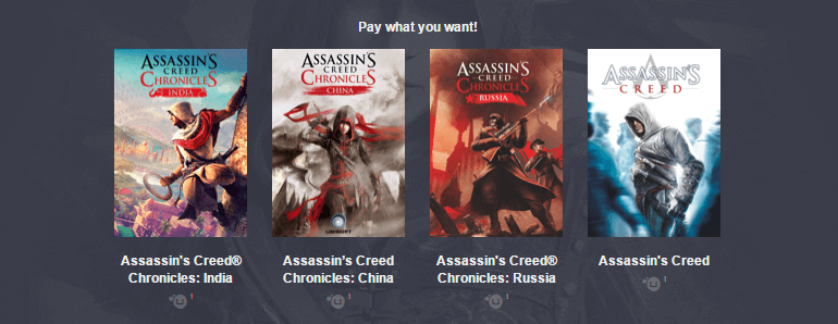 Humble Bundle Assassins Creed