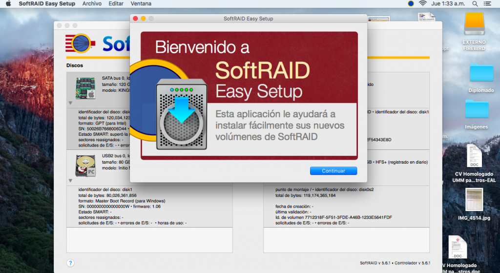 SoftRAID Versión 5.6