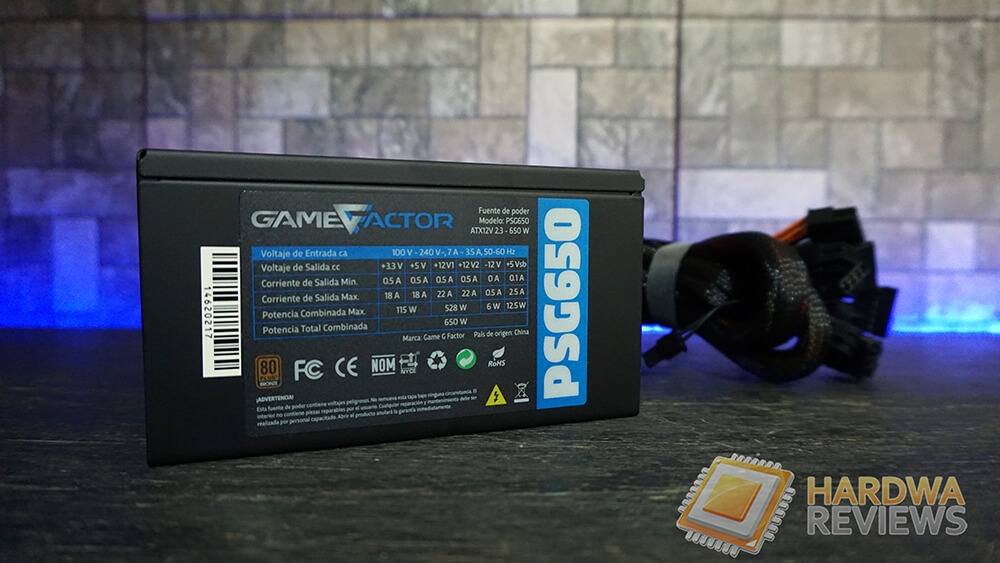 GameFactor PSG650 650W 80Plus Bronze PSU